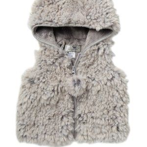 WIDGEON Hooded Faux Fur Zip Vest